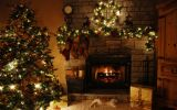 decoration-ideas-marvelous-christmas-mantel-and-fancy-christmas-tree-above-beautiful-stone-fireplace-living-room-fashionable-decorating-ideas-for-christmas-trees